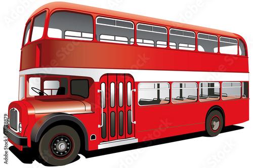 Türaufkleber London roten bus red double decker bus