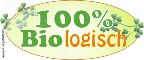Photo  100 Prozent biologisch