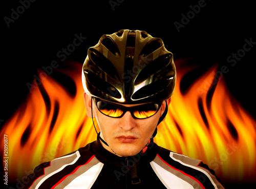 Acrylic Prints Bicyclist