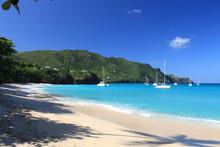 Tropical Beach On Bequia Islan...