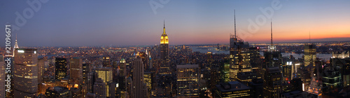 Zdjęcie XXL New York - Skyline - Sunset - Panorama