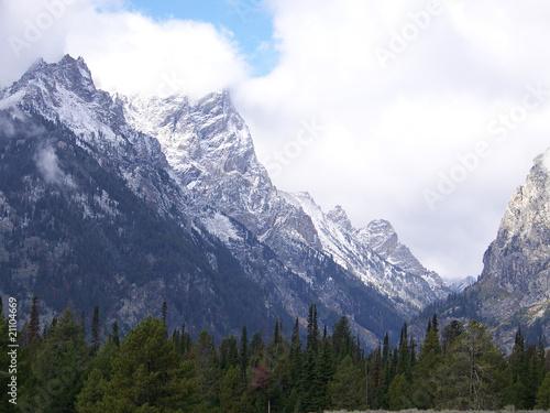 Tuinposter Alpen Snow Mountains