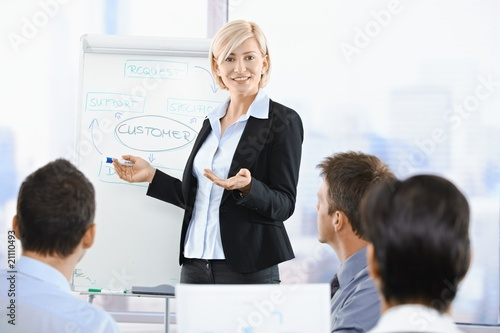 Fotografia  Businesswoman presenting