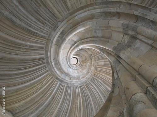 Poster Spirale Wendeltreppen-Schnecke