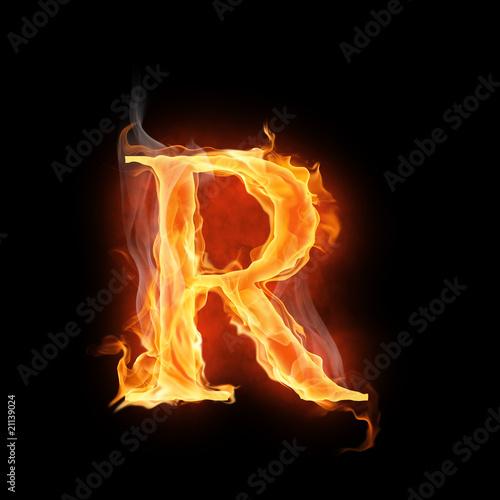 Photo  flamy symbol