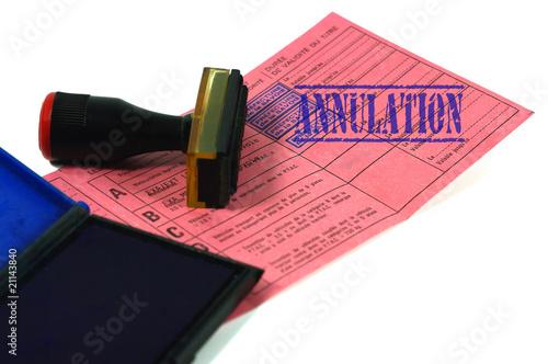 Photo  annulation de permis de conduire