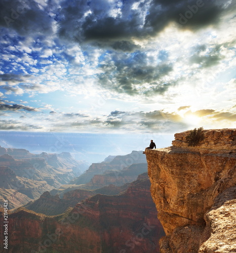 Naklejki krajobraz  krajobraz-z-wielkim-kanionem