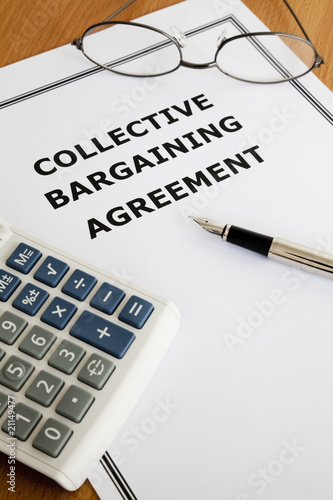 Collective Bargaining Agreement Buy This Stock Photo And Explore