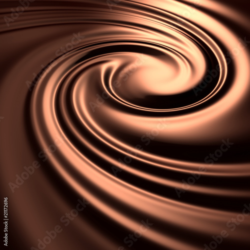 Fotografie, Obraz  Abstract chocolate swirl background