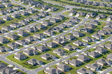 Aerial View Of Houses In Typic...