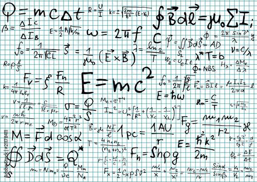 Physical formulas and equations Wallpaper Mural