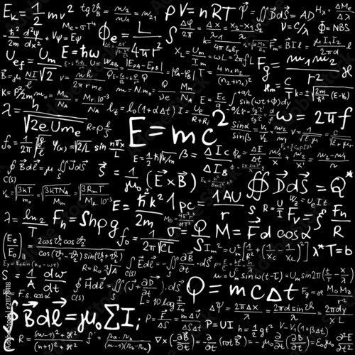 Physical formulas and equations Canvas Print