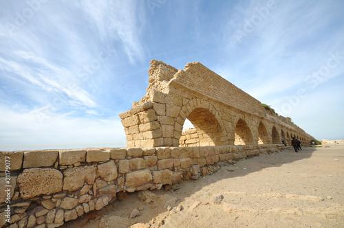 Canvas Print Caesarea Aqueduct
