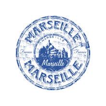 Marseille Grunge Rubber Stamp