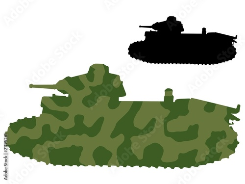 Poster Militaire old tank