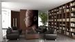 Contemporary designed private bibliothek