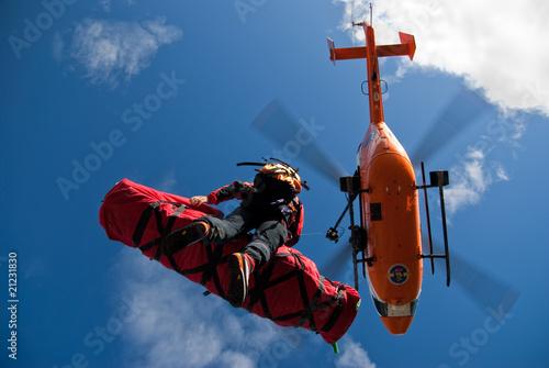 Photo sur Toile Hélicoptère Rettungshubschrauber