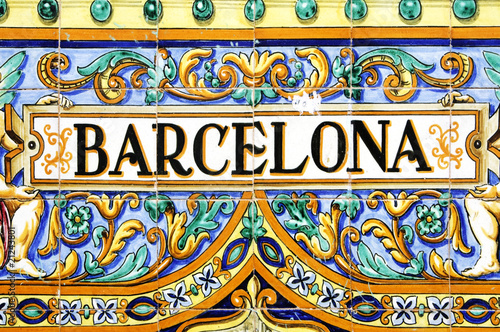 Canvas Print barcelona sign