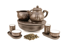 Teapot And Cups For Tea Ceremony