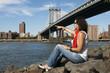 Leinwanddruck Bild - Girl in Manhattan