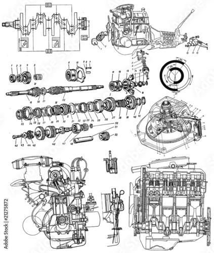 Fotografía  technical drawing background 6