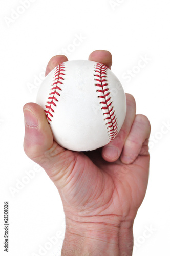 Fotografie, Obraz  Player Gripping a New Baseball