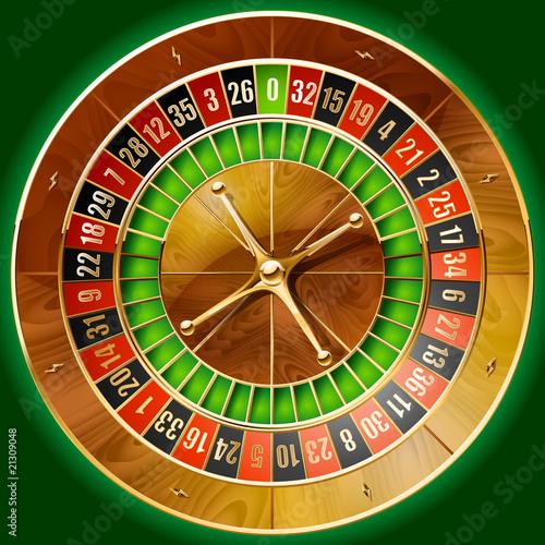 Fotografie, Obraz  Illustration of detailed casino roulette wheel