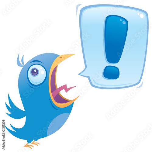 Obraz Shouting Bluebird - fototapety do salonu