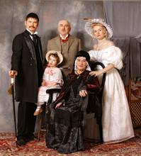 Retro Family Portrait