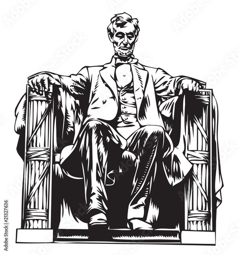 Fotografie, Obraz  Lincoln memorial statue