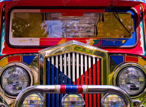 Foto Filipino Jeepney Details with Classic Vintage Accents