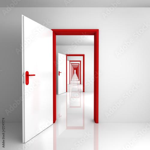 drzwi-czerwone