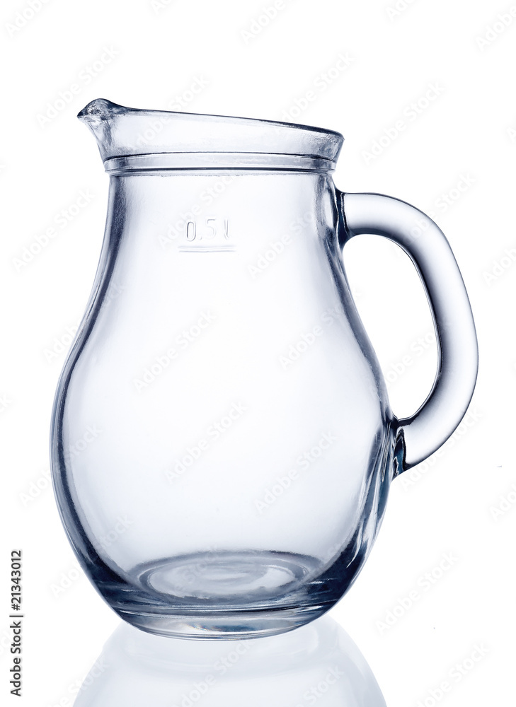 Fototapety, obrazy: Glass jug isolated on a white background
