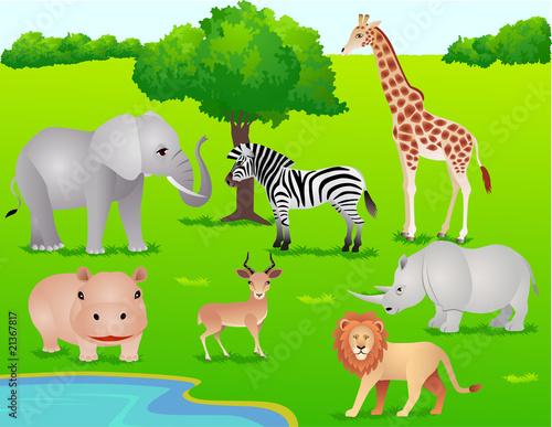 Foto op Aluminium Zoo Safari Africa