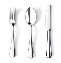 Fork Spoon And Knife Isolated ...