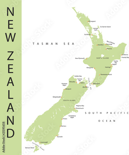 Fotomural New zealand Map.