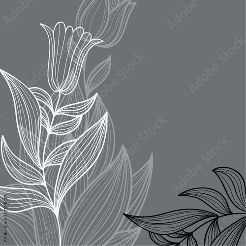 Plakat elegancki kwiatowy ilustracji