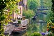 canvas print picture - Boote im Spreewald