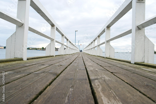 Wooden bridge in Helsinki
