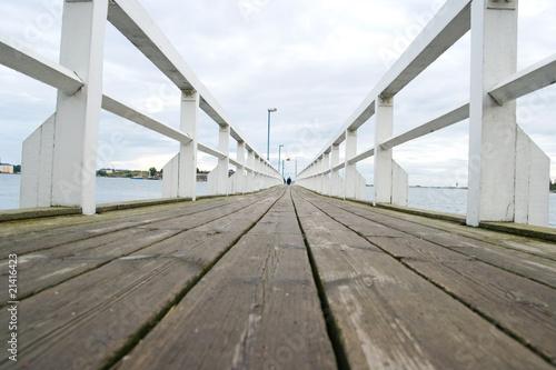 Drewniany most w Helsinkach