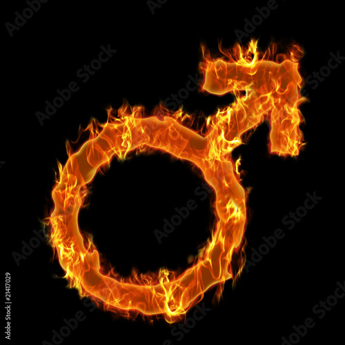 Photo Stands Fire / Flame Burning man symbol