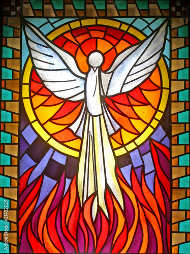Fotografia Holy Spirit, stained glass