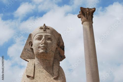Fotografie, Obraz Sphinx et colonne d'Alexandrie