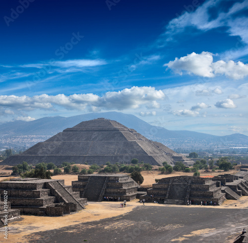 Poster Mexique Teotihuacan Pyramids