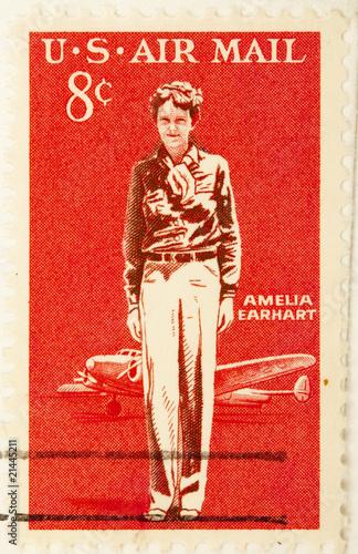 Amelia Earhart, circa 1963 . Wallpaper Mural