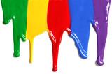 Fototapeta Tęcza - Paint dripping