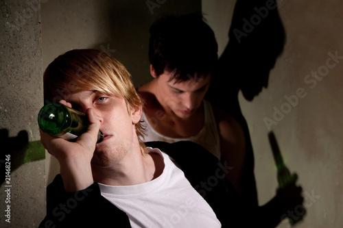Fotografie, Obraz  Drunk young men