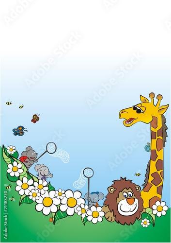 Poster de jardin Zoo spring is coming