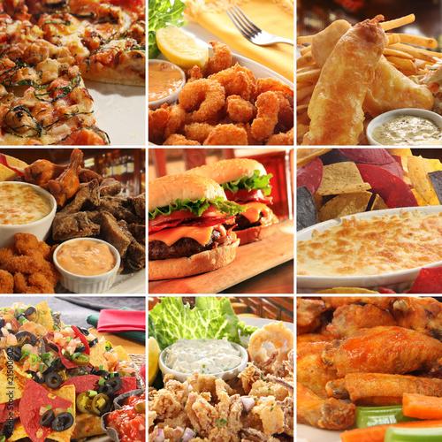 Collage of pub food. © Barbara Helgason