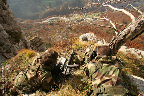 Carta da parati Militaire - chasseurs alpins